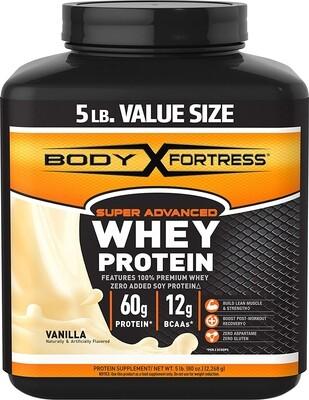 Body Fortress VANILLA WHEY PROTEIN 5lbs (2,2kg) USA