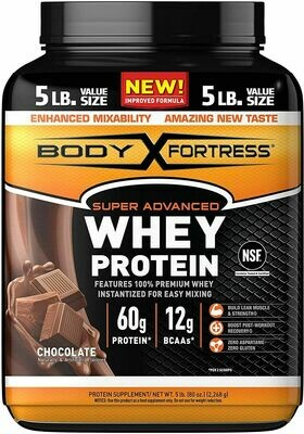 Body Fortress CHOCOLATE WHEY PROTEIN 5lbs (2,2kg) USA