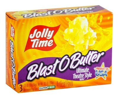 Jolly Time BLAST O BUTTER Ultimate Theatre Style Popcorn (Microwave Popcorn) 3 x 99g bags