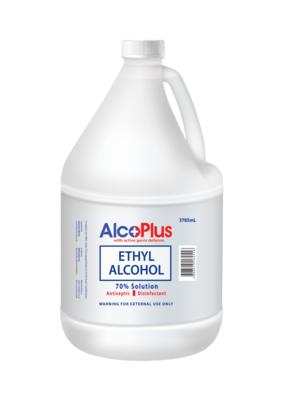 Alcoplus Ethyl Alcohol 70% 1 Gallon