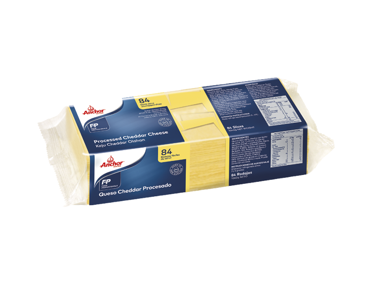 Anchor processed White CHEDDAR 84 Slice Cheese 1kg