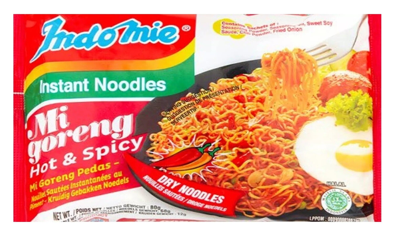 Indomie MI GORENG HOT & SPICY Instant Noodles 80g