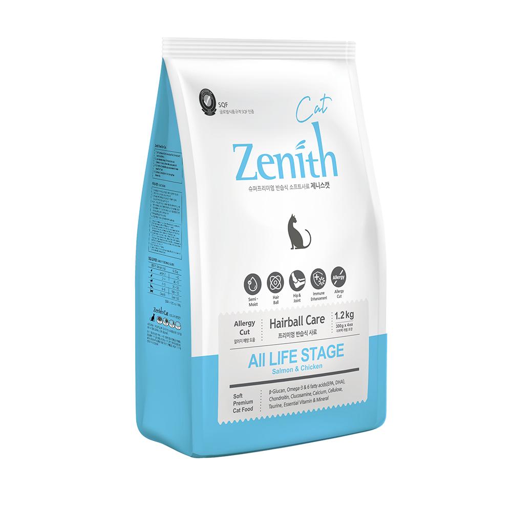 Zenith Cat Food Hairball Chicken & Salmon 1.2kg