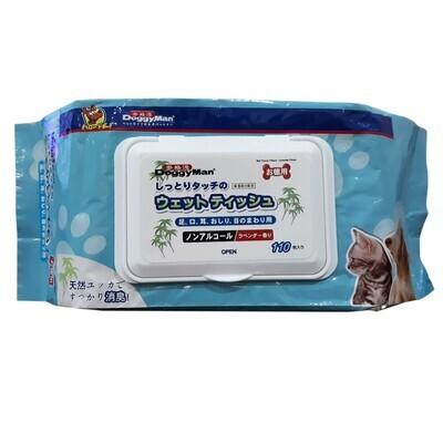 Doggyman Wet Tissue Lavander Scent 110 pcs