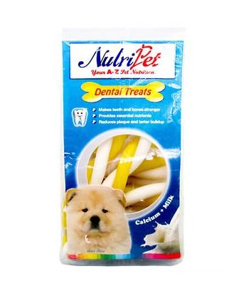 Nutripet Twist Sticks Banana & Milk 140g Dental Treats