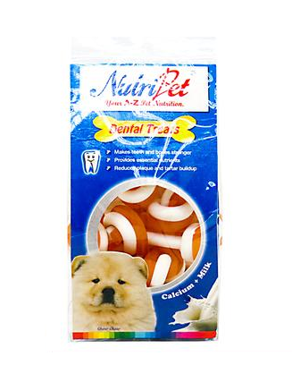 "Nutripet Twist N' Knotted Bone Cheese & Milk 2.5"" 150g Dental Treats"