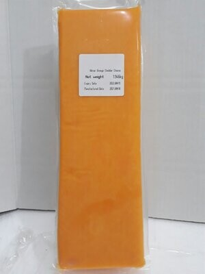 Hilmar Orange CHEDDAR Cheese from USA about 1kg Block