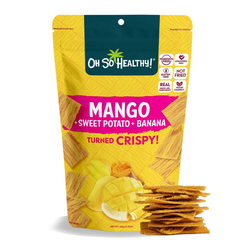 Oh So Healthy MANGO, SWEET POTATO, BANANA 120 grams EXTRA LARGE SIZE (Vegan)