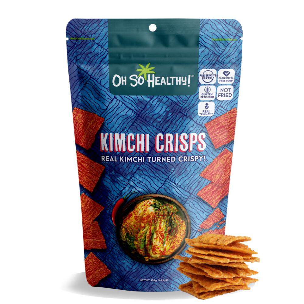 Oh So Healthy KIMCHI CRISPS 120 grams EXTRA LARGE SIZE (Vegan)
