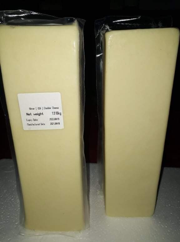 Hilmar White CHEDDAR Cheese from USA about 1kg Block