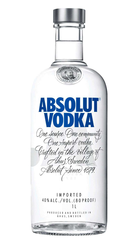 ABSOLUT VODKA 40% 1 LITER - Original Swedish Vodka