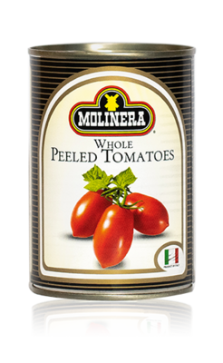 Molinera Whole Peeled Canned Tomatoes 400g
