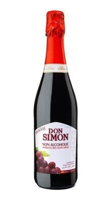 Don Simon NON ALCOHOLIC SPARKLING RED Grape Juice 750ml
