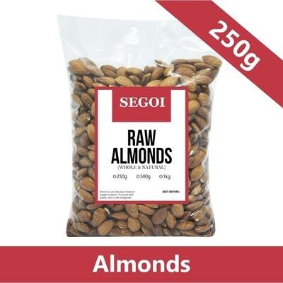 Segoi RAW ALMONDS NUTS 250 grams