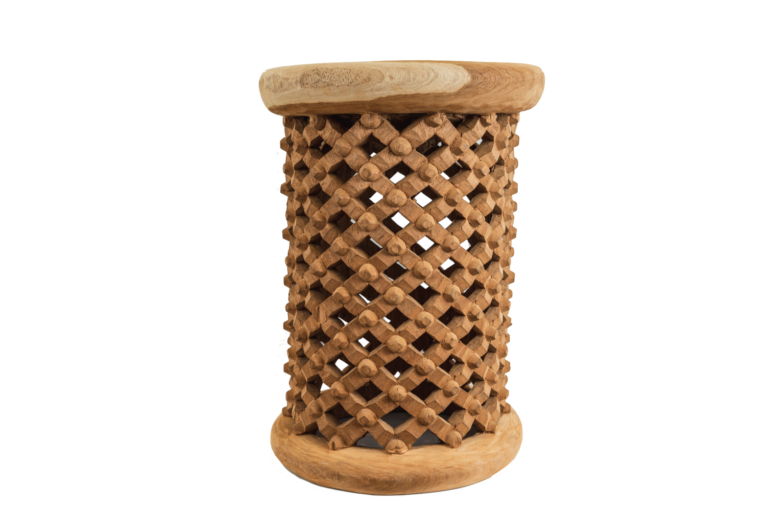 Bamileke Side Table - 40D x 60H