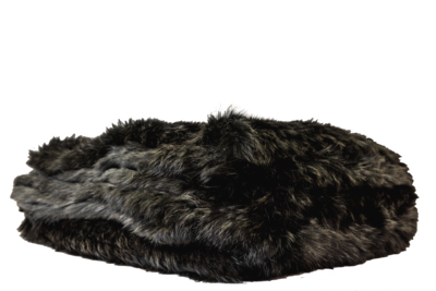 Rabbit Fur Throw - Black