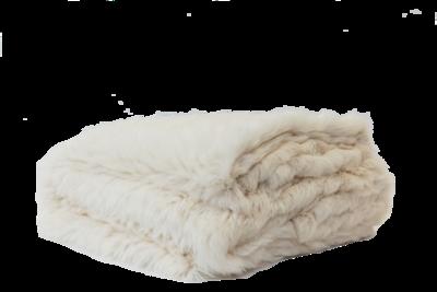 Rabbit Fur Throw - Beige