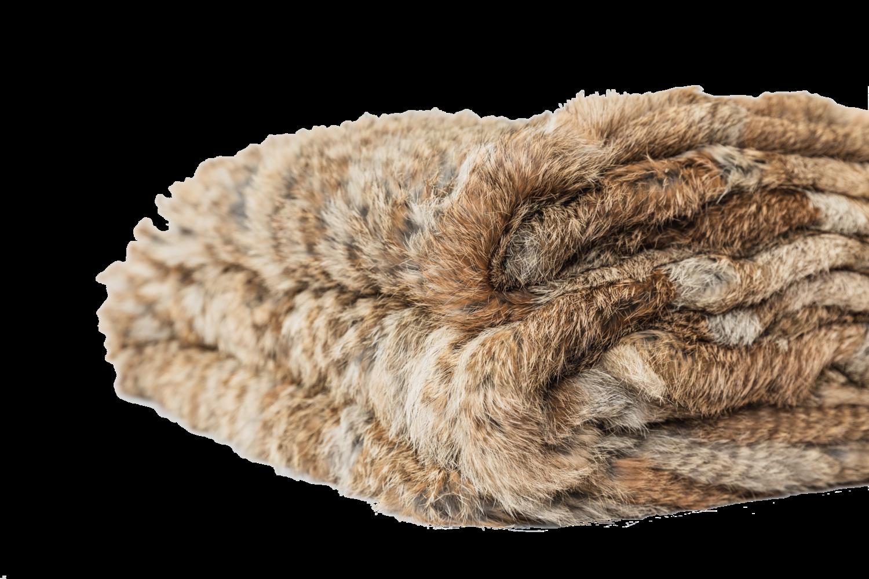 Rabbit Fur Throw - Brown