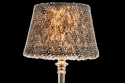 Guinea Fowl Feather Lamp Shade