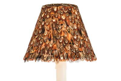 Red Pheasant Feather Shade