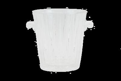 Dane Ribbed Glass Ice Bucket