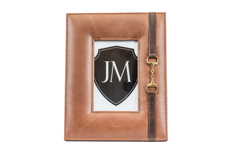 Leather Photo Frame - Light Brown