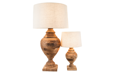 Turned Wood Urn Lamp