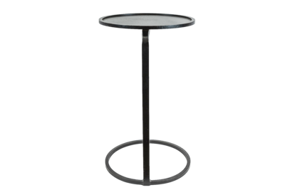 Circle Couch Side Table - Black & Brass