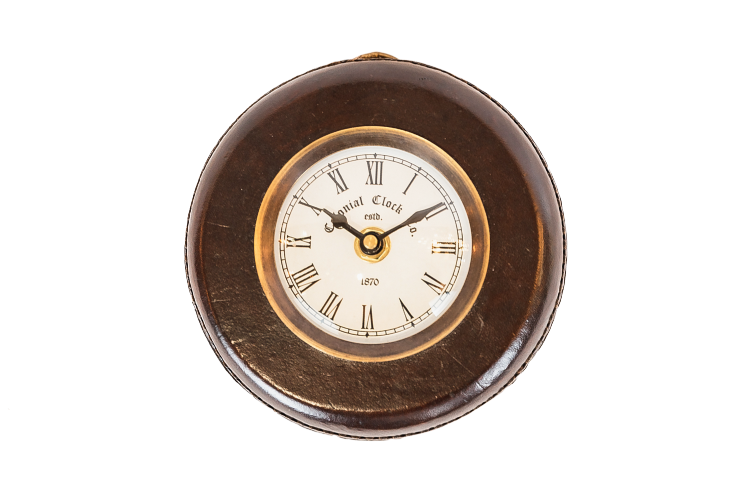 Hanging Leather Clock