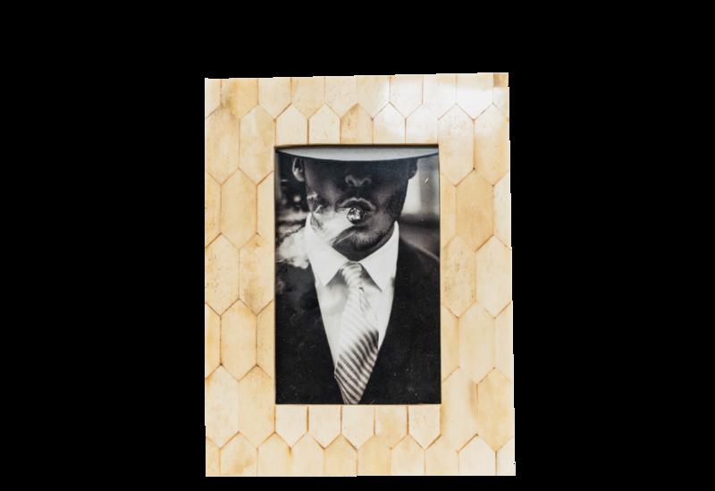 Honeycomb Antique Bone Frame