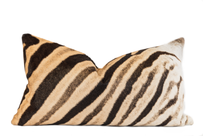 Genuine Zebra Hide Lumber Cushion