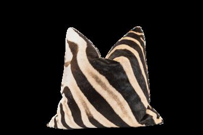 Genuine Zebra Hide Cushion