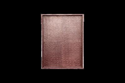 Leather Tray - Crocodile Print