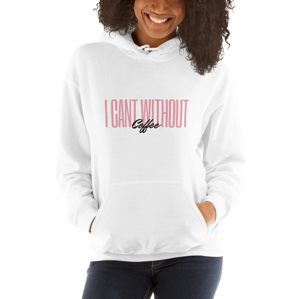 I CAN'T Without COFFEE- Pink-n-Black Women's Hoodie