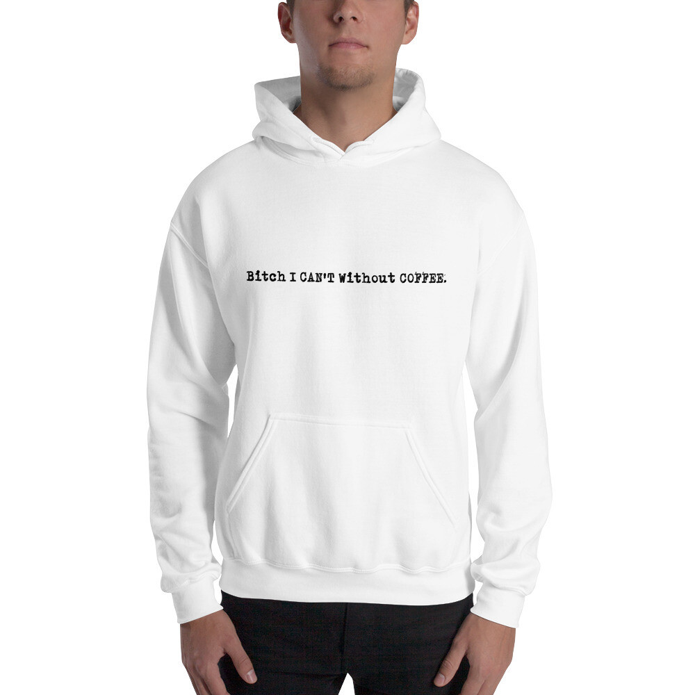 I CAN'T Without COFFEE PG-13 Logo Unisex Hoodie