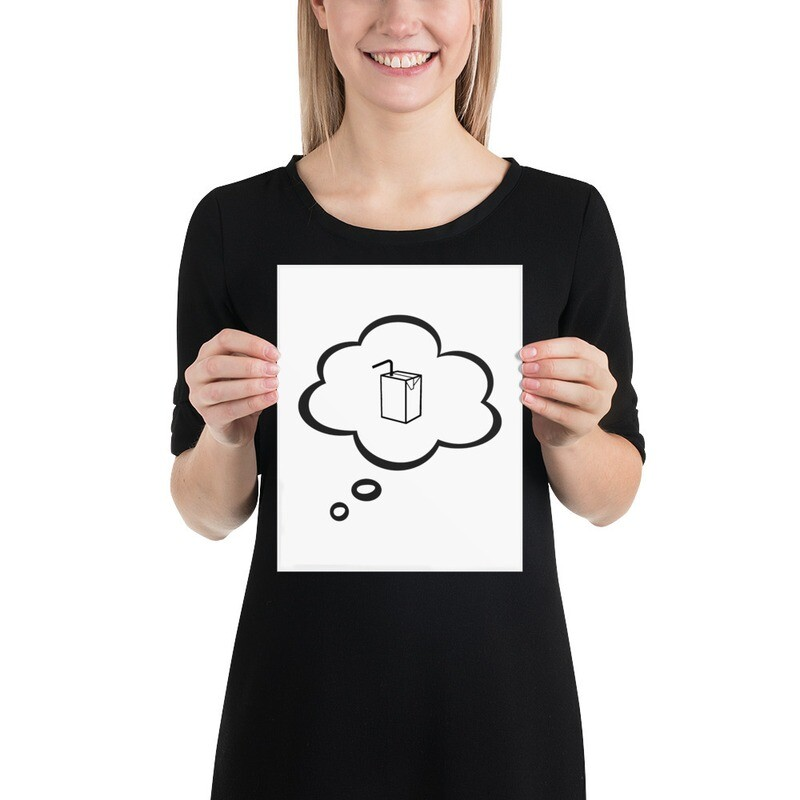 I CAN'T Without COFFEE- I DREAM OF JUICE PosterArt