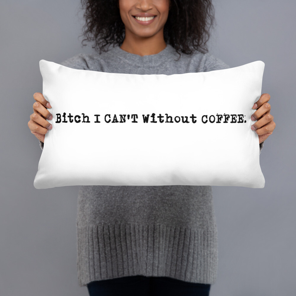 I CAN'T Without COFFEE PG-13 Logo Basic Pillow