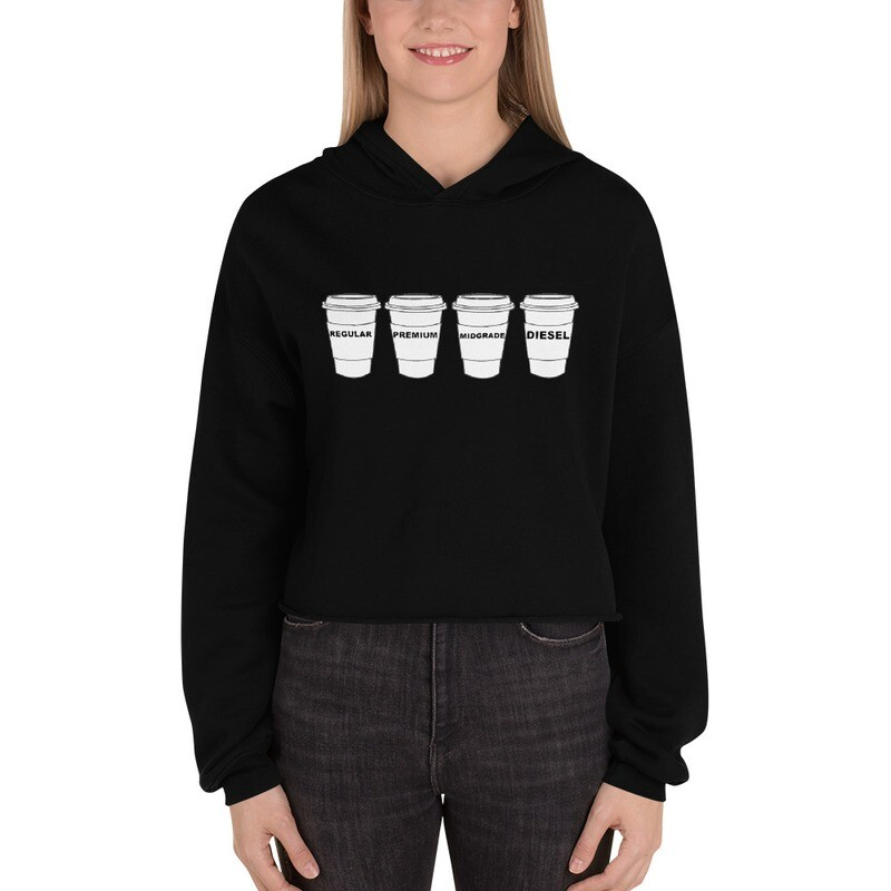 I CAN'T Without COFFEE- GASOLINA -H Crop Hoodie