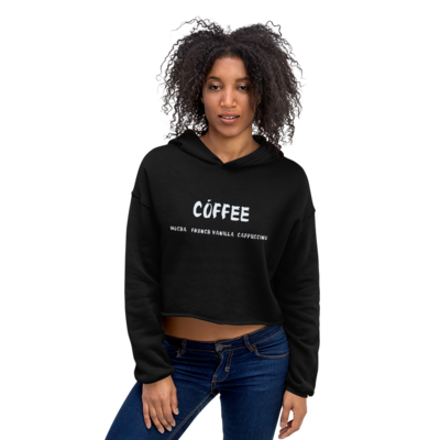 I CAN'T Without COFFEE-COFFEE Palette 2 Crop Hoodie