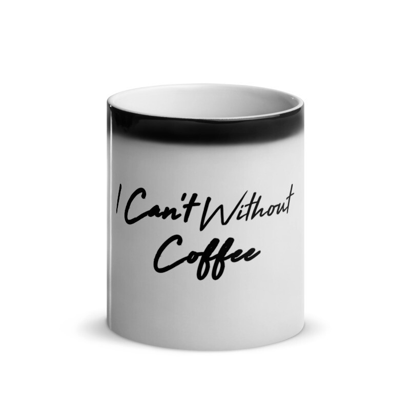 I CAN'T Without COFFEE®️-HIGH TIDE Glossy Magic Mug