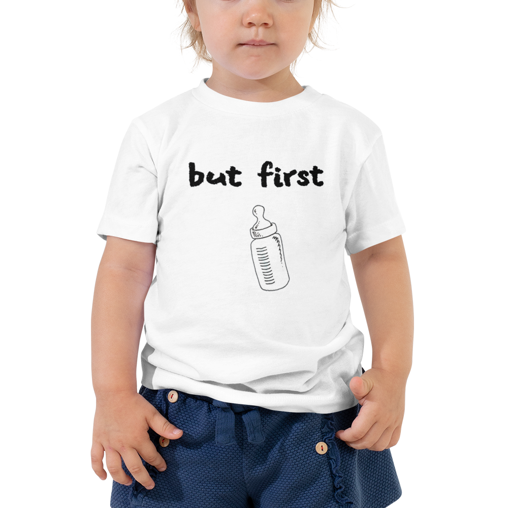 I CAN'T Without COFFEE-BUT FIRST Baba Toddler Short Sleeve Tee