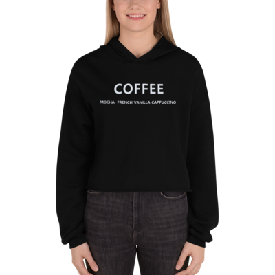 I CAN'T Without COFFEE- Coffee Palette Crop Hoodie