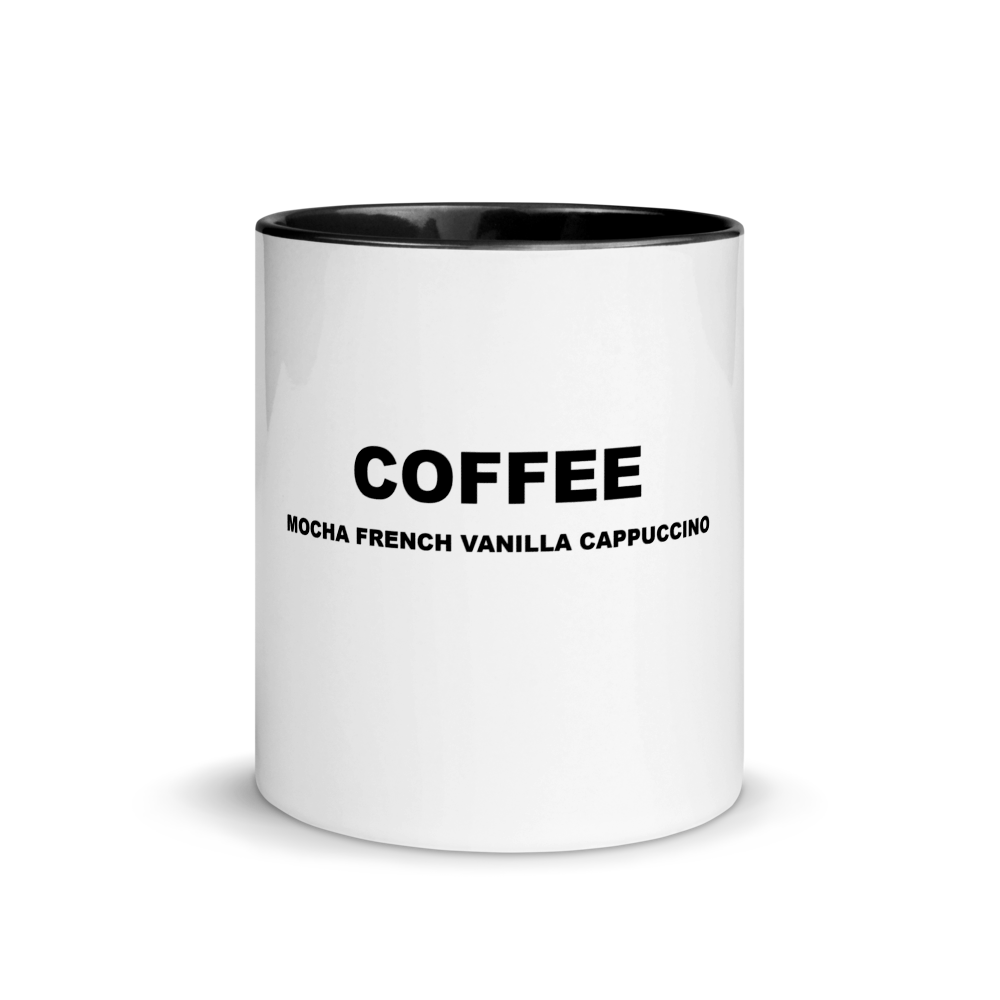 I CAN'T Without COFFEE- Coffee PALETTE Mug with Color Inside (11 oz)