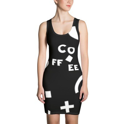 I CAN'T Without COFFEE- She Came From The 80's (THREE) Sublimation Cut & Sew Dress