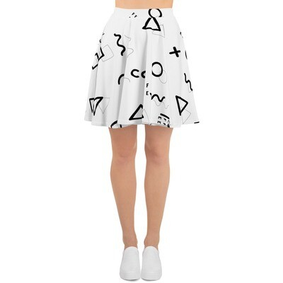 I CAN'T Without COFFEE-She Came From The 80's (TWO) Skater Skirt