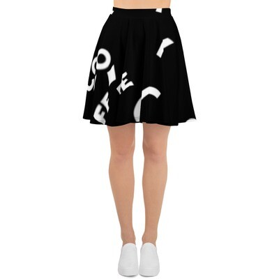 I CAN'T Without COFFEE-She Came From The 80's (THREE) Skater Skirt