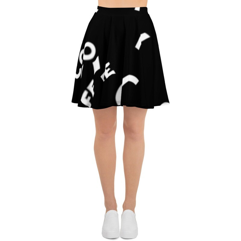 I CAN'T Without COFFEE®️-She Came From The 80's (THREE) Skater Skirt