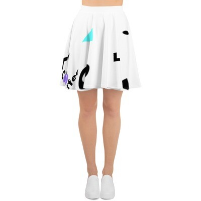 I CAN'T Without COFFEE- She Came From The 80's (ONE) Skater Skirt