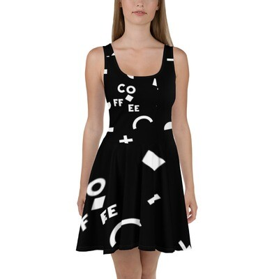 I CAN'T Without COFFEE- She Came From The 80's (THREE) Skater Dress