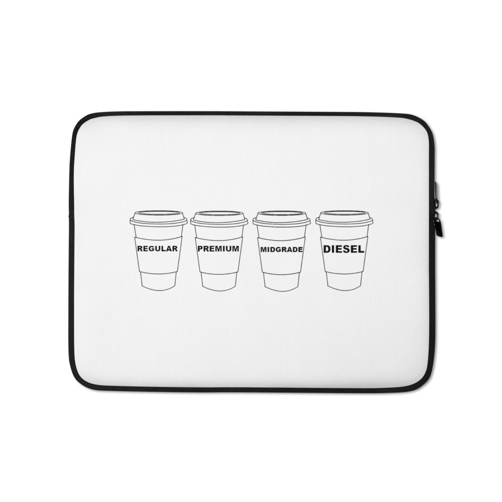I CAN'T Without COFFEE®️- GASOLINA H Laptop Sleeve